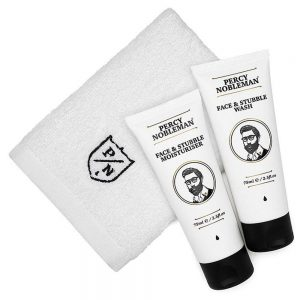 Set ingrijire barba mica si fata Percy Nobleman Face & Stubble Care Kit