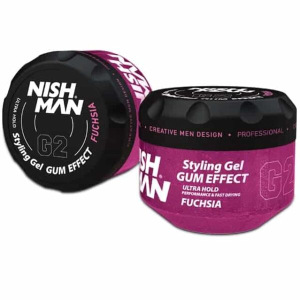 Gel de par Nishman G2 Styling Gel Gum Effect Fuchsia 150 ml