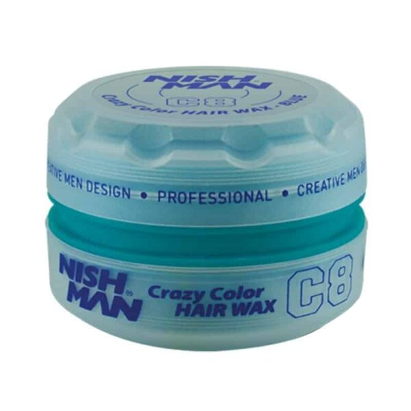 Ceara de par colorata Nishman Coloring Wax C8 Blue 150 ml