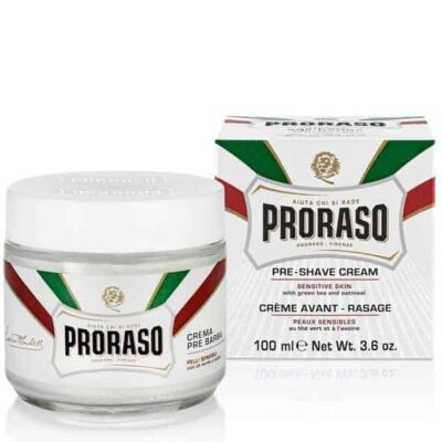 Crema inainte de ras Proraso Green Tea & Oatmeal Sensitive Pre-Shave Cream 100 ml 3