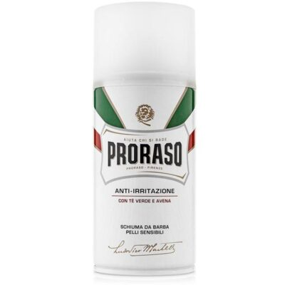Spuma de barbierit Proraso Green Tea & Oatmeal Sensitive Shaving Foam