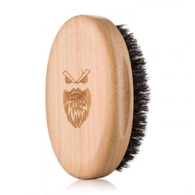 Perie de barbă moale Angry Beards Wooden Beard Brush Gentler