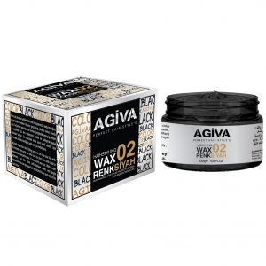 Agiva Hair Color Wax 02 Siyah - 120 gr