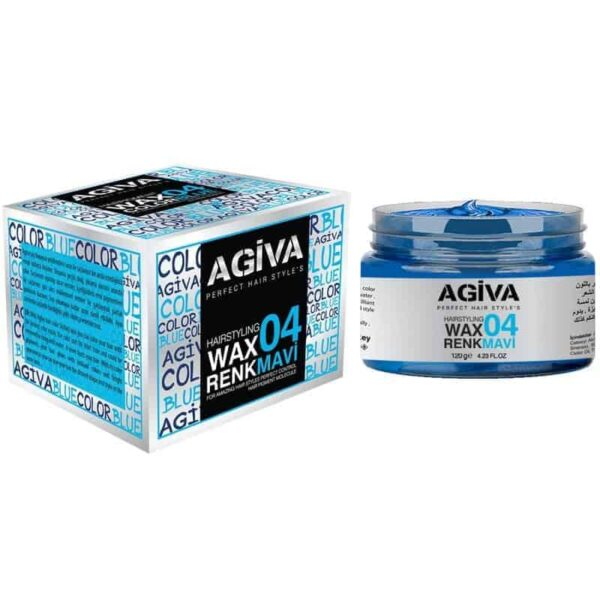 Ceară de păr colorată Agiva Hair Color Wax 04 Blue